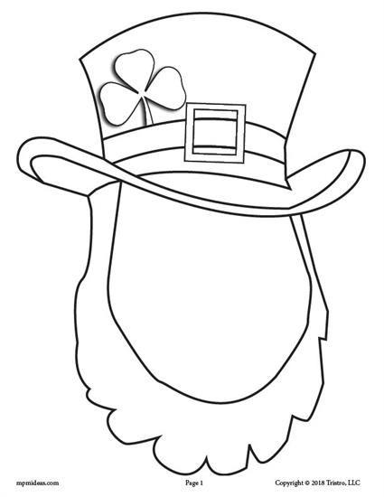 425x550 Free Printable St. Patrick's Day Leprechaun Face Drawing Activity