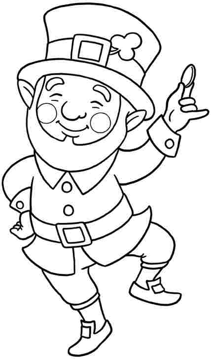 428x726 Free Colouring Pages Saint Patrick Leprechaun For Little Kids