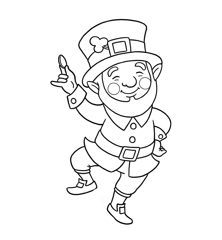 773x836 Greatest Leprechaun Coloring Pages Best For Kids