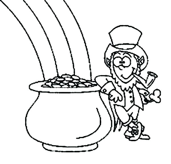 600x576 A Pot Of Gold Coloring Page Leprechaun Coloring Pages Freed