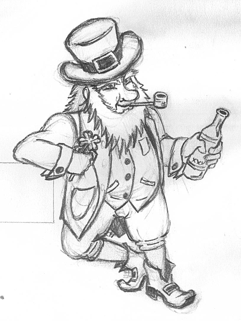 815x1088 Leprechaun Sketch By Cromecre8ive