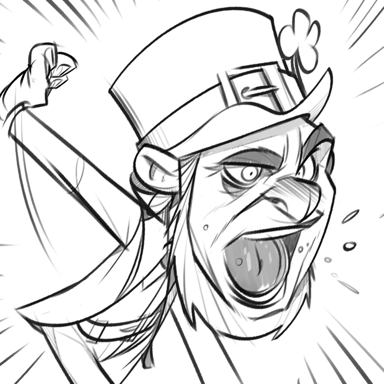 1250x1250 P.cohen Sketch Blog Angry Leprechaun