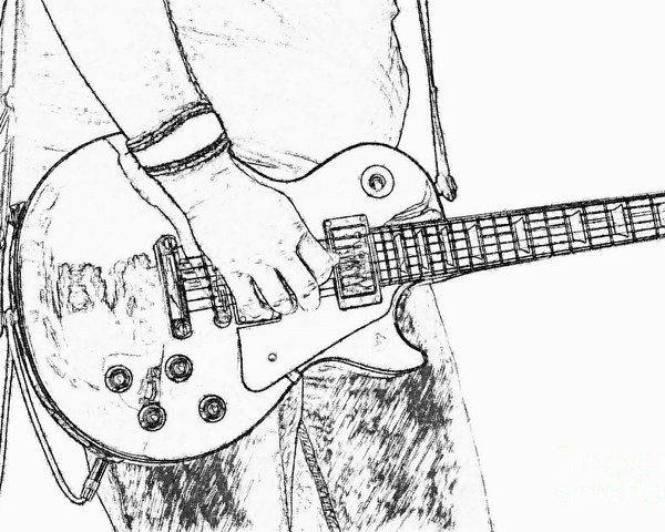 Les Paul Drawing At Getdrawings Com