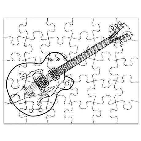 460x460 Gibson Guitar Puzzles, Gibson Guitar Jigsaw Puzzle Templates