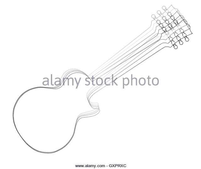 Les Paul Guitar Drawing At Getdrawings Com