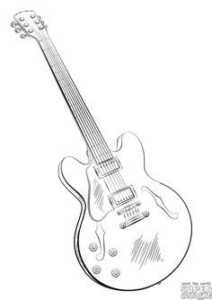 236x334 How To Draw An Electric Guitar Step By Step. Drawing Tutorials