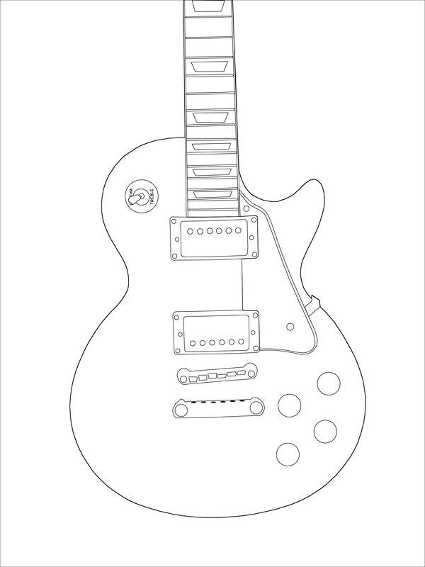 600x800 Les Paul Drawing Wip 2 By Stevie Wonder