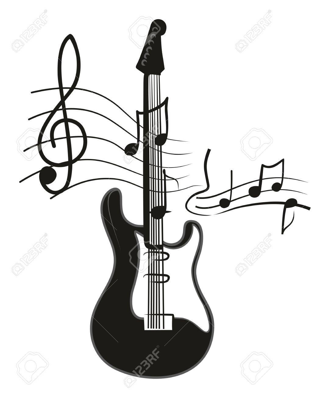 1063x1300 Drawing Guitar Stock Photos. Royalty Free Business Images