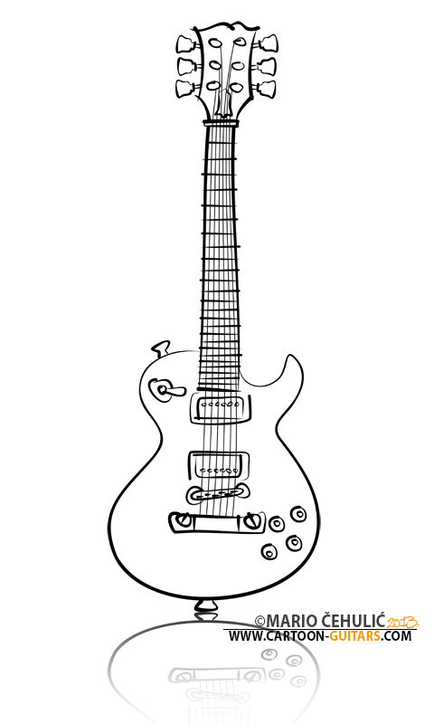 480x800 Drawn Guitar Les Paul Guitar