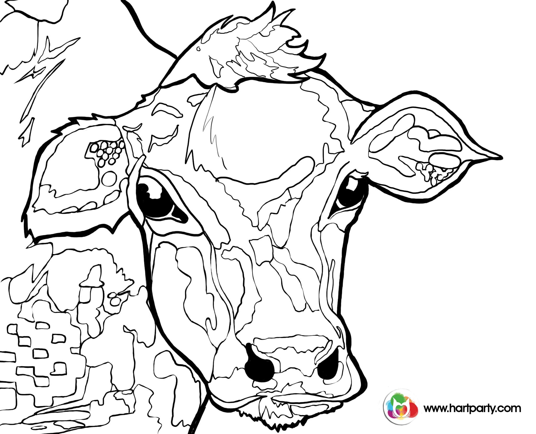 2048x1660 Traceable Colorful Cow Painting Acrylic Tutorial Beginner