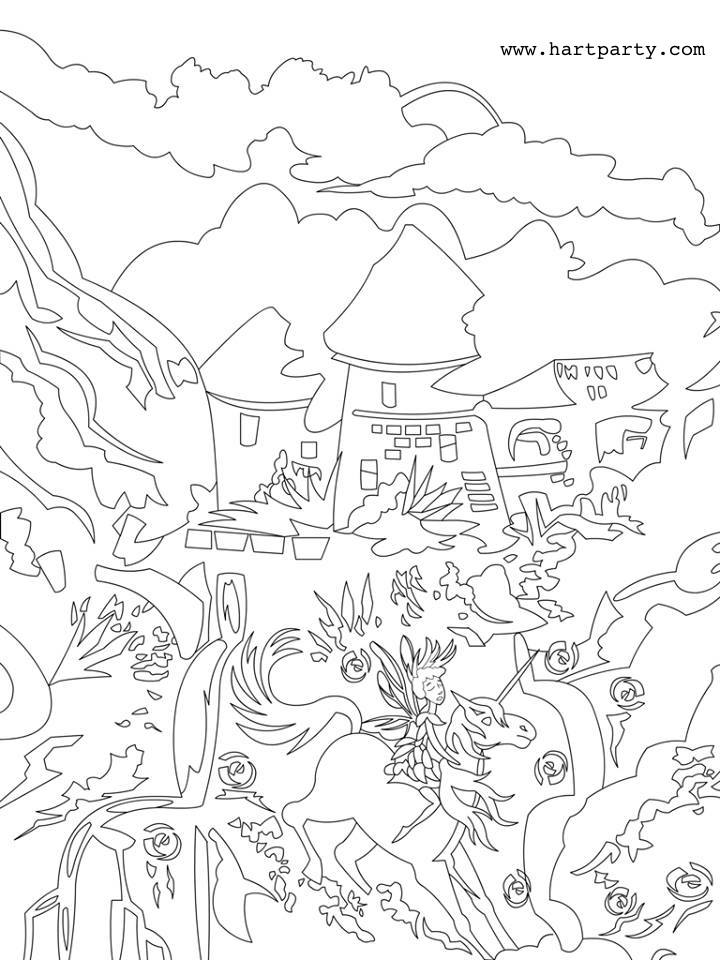 720x960 The Fairy Kingdom Trace Able And Coloring Page For The Full