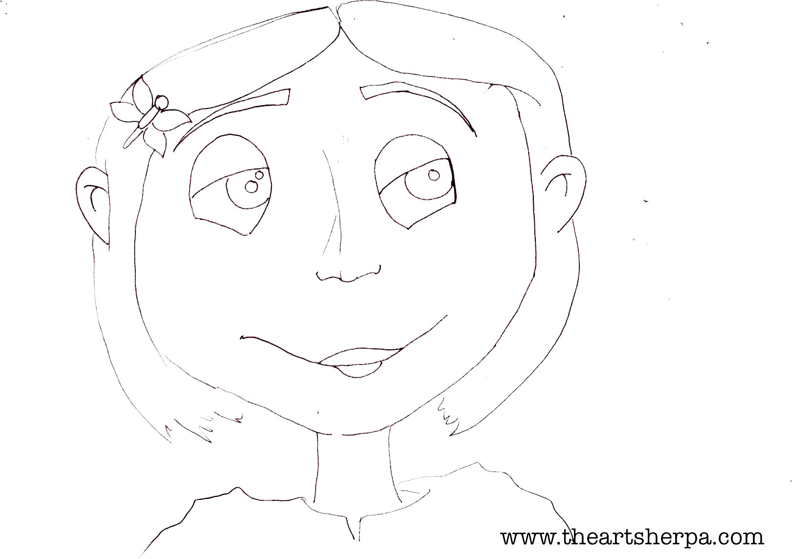 1620x1144 Coraline Traceable For The Youtube Lesson The Art Sherpa The Art