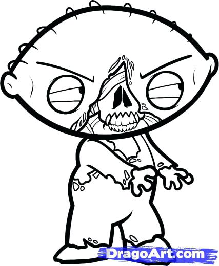 427x520 Gangsta Coloring Pages Learn How To Draw Zombie Zombie Zombies