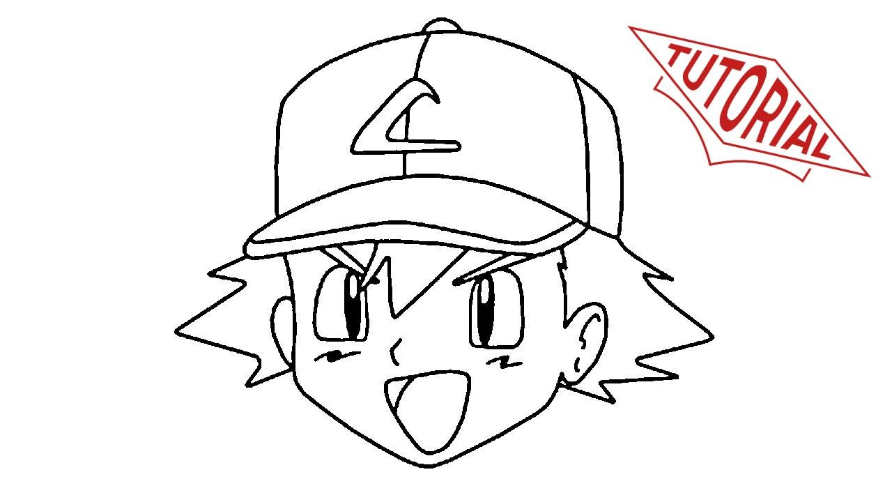 1280x720 How To Draw Ash Ketchum [2 Minutes]. Easy Step By Step Drawing