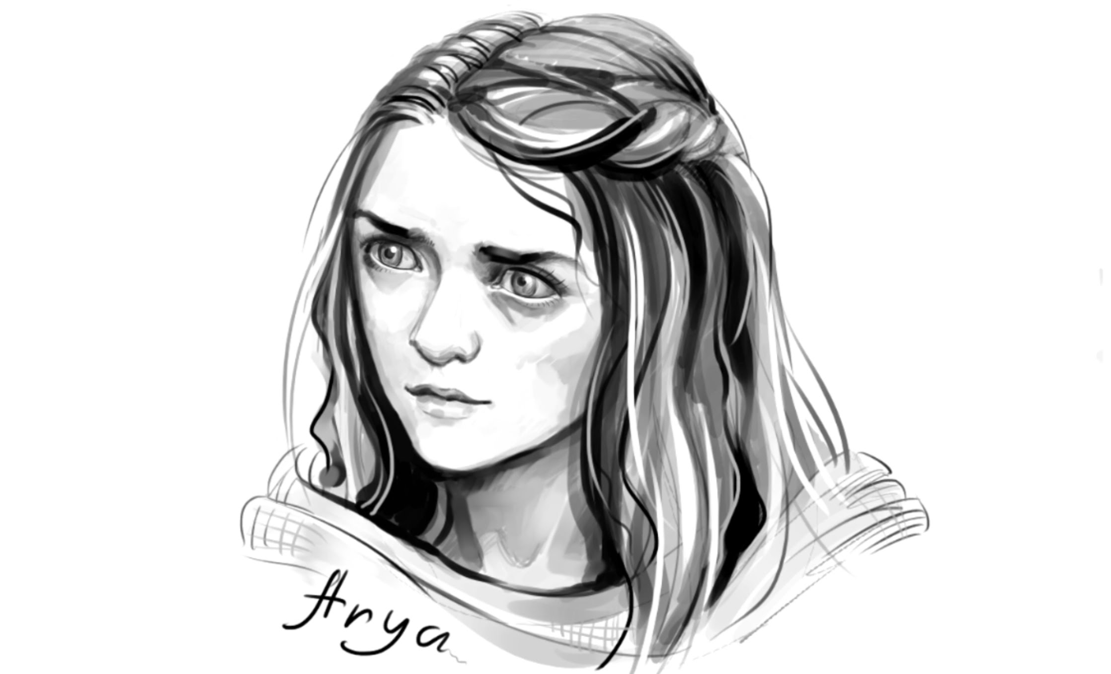 2236x1358 How To Draw Arya Stark From Games Of Thrones