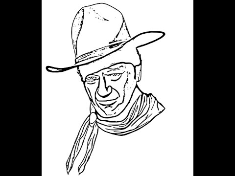 480x360 How To Draw John Wayne Face Drawing Step By Step