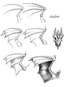 236x306 Demon Wing Drawing Drawings, Originals And Wings Drawing