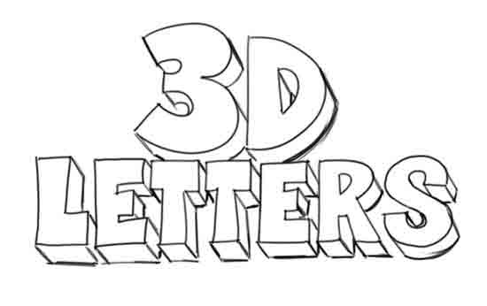 550x346 How To Draw 3d Letters