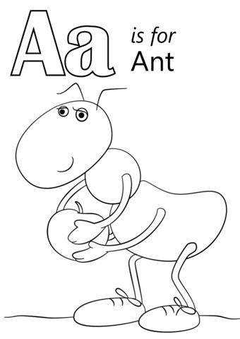 340x480 Letter A Is For Ant Coloring Page Free Printable Coloring Pages