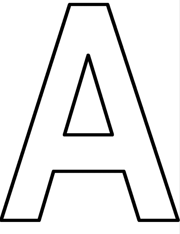 614x794 Printable Letter A Coloring Page