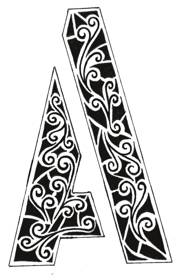 600x926 The Letter A By Pixie Licious