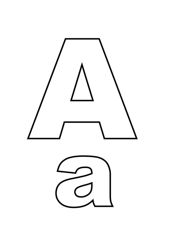 600x776 Big And Small A On Learning Letter A Coloring Page Best Place