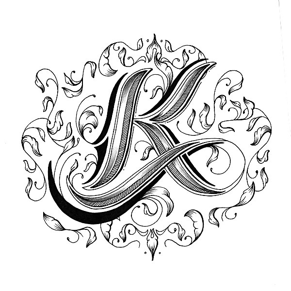 600x600 Hand Drawn Love Letter Alphabet