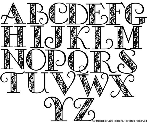 570x475 Pretty Alphabet Letters To Draw Theveliger