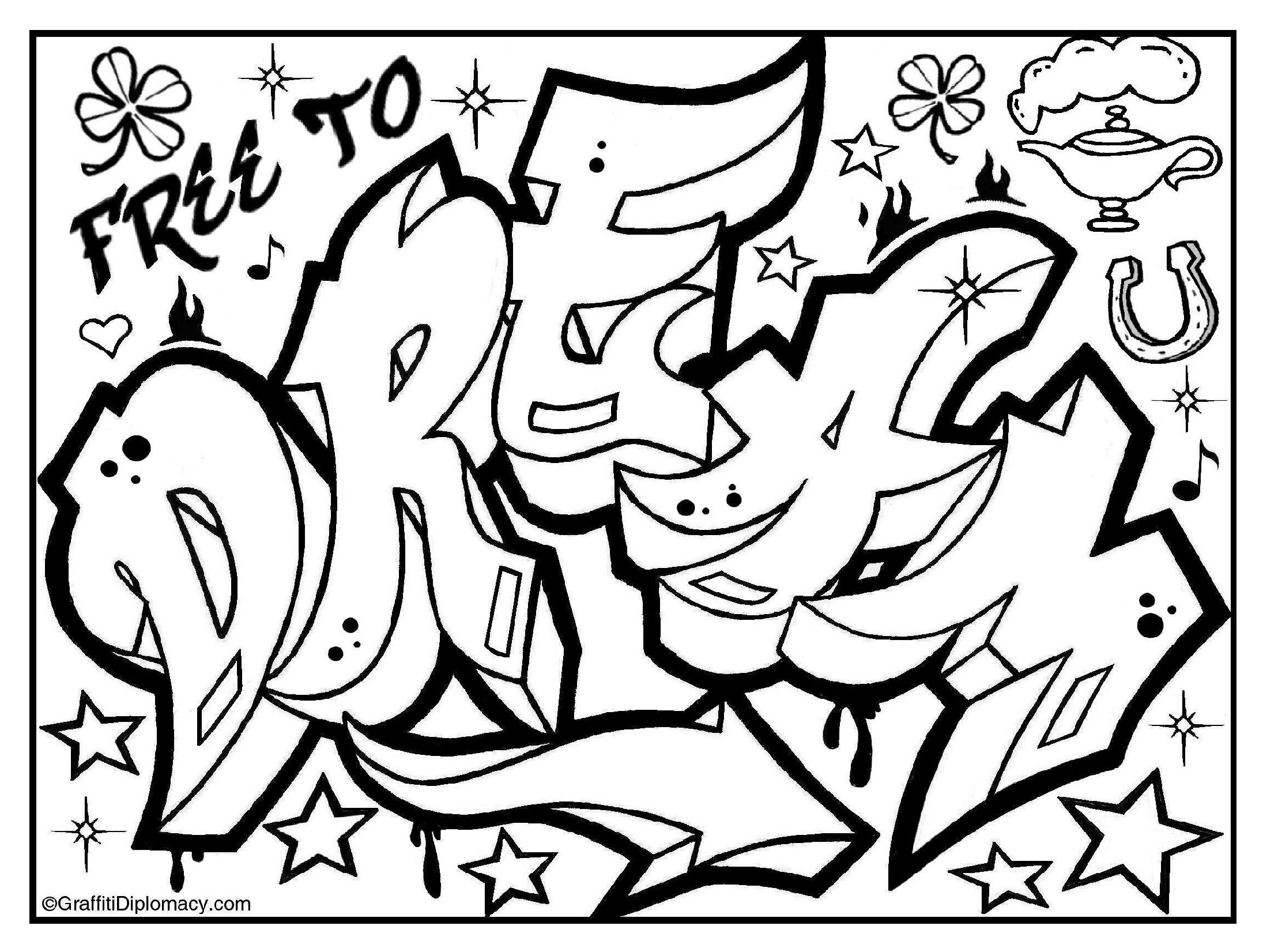 2191x1651 Graffiti Coloring Book Because Y's A Crooked Letter By Graffiti