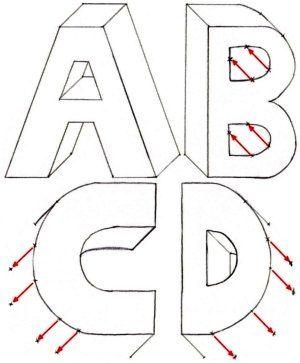 300x363 137 Best Drawing 3d Letters Images On 3d Letters