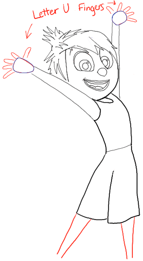 500x909 How Draw Joy From Disney Pixars Inside Out With Easy Steps