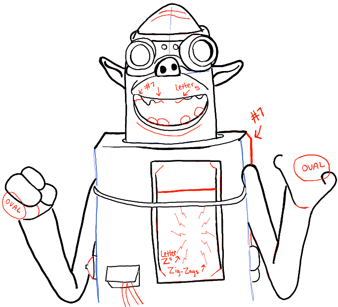 684x622 How To Draw Sparky From Boxtrolls In Easy Step By Step Drawing