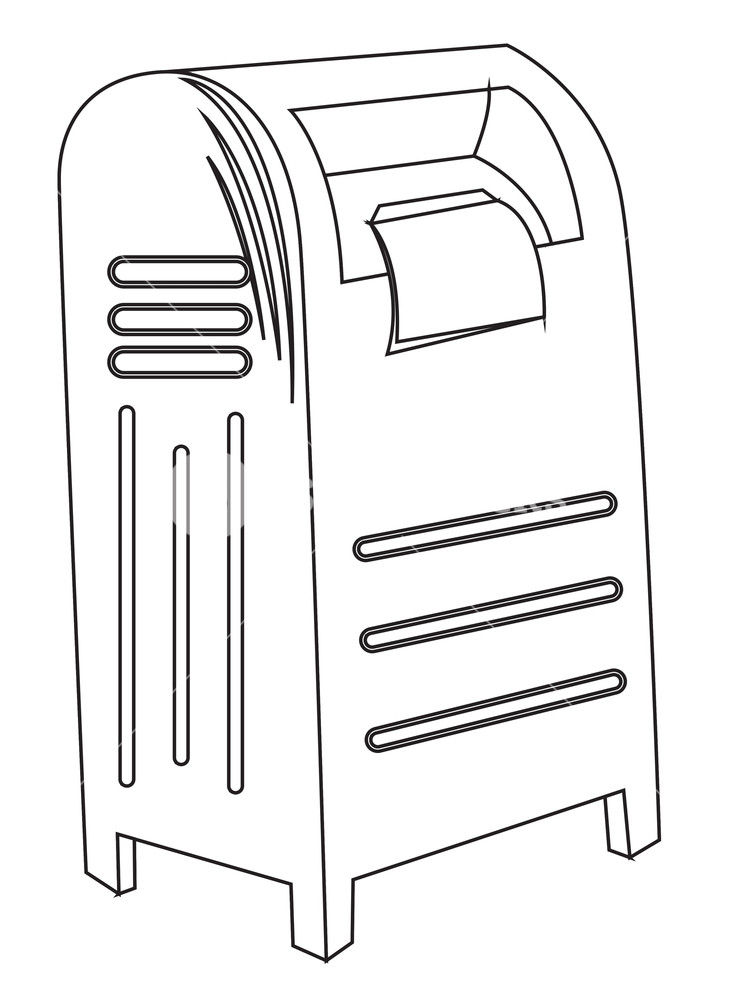 731x1000 Letterbox Sketching Royalty Free Stock Image