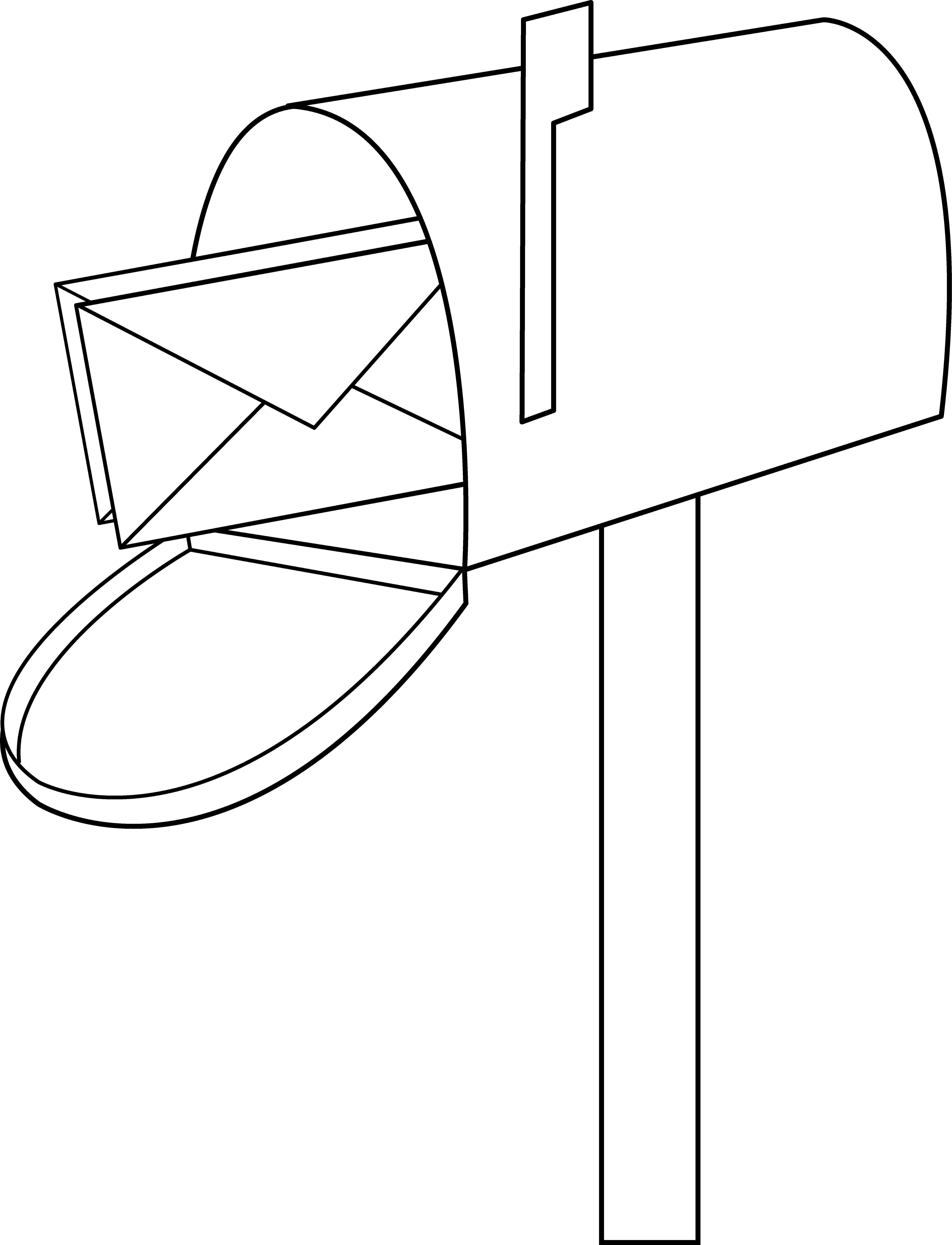 6317x8258 Mailbox Line Art
