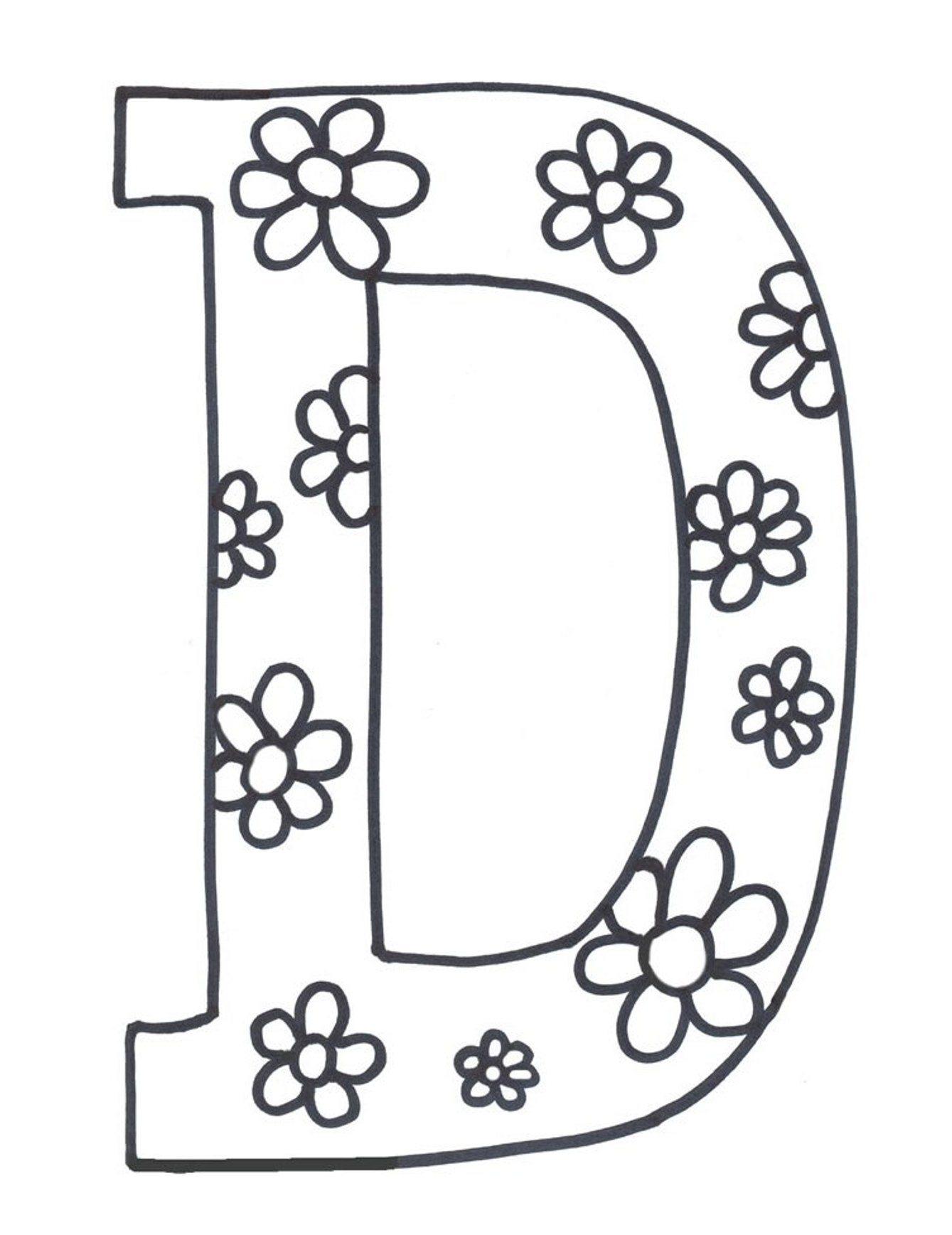 1339x1737 Coloring Pages Letter D Coloring Pages Letter D Letter D Free