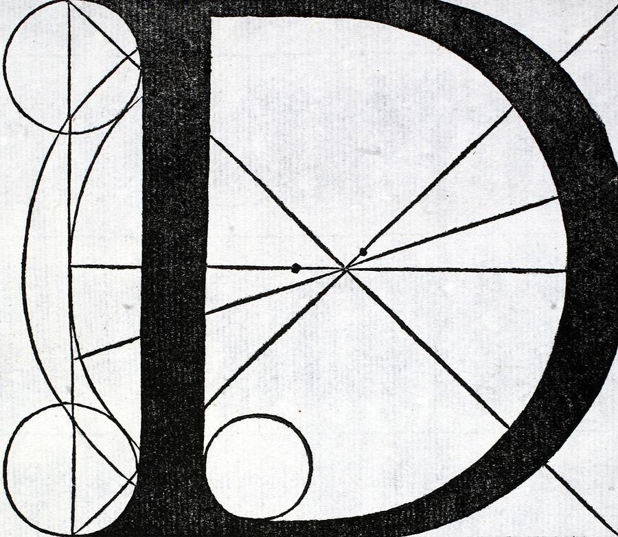 900x783 Letter D Drawing By Leonardo Da Vinci