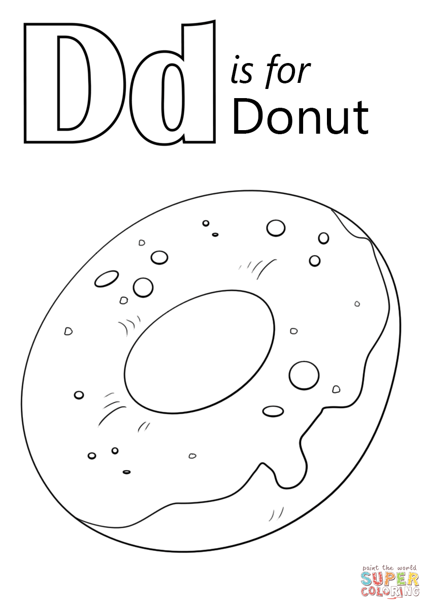 849x1200 Letter D Is For Donut Coloring Page Free Printable Coloring Pages