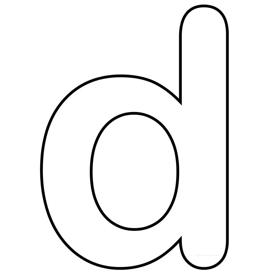 900x900 Lowercase Letter D