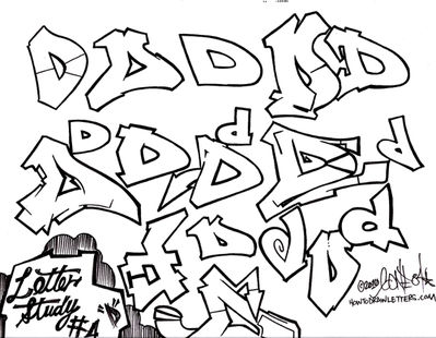 399x310 Phase 1 Graffiti Style Letter D How To Draw Letters Gallery