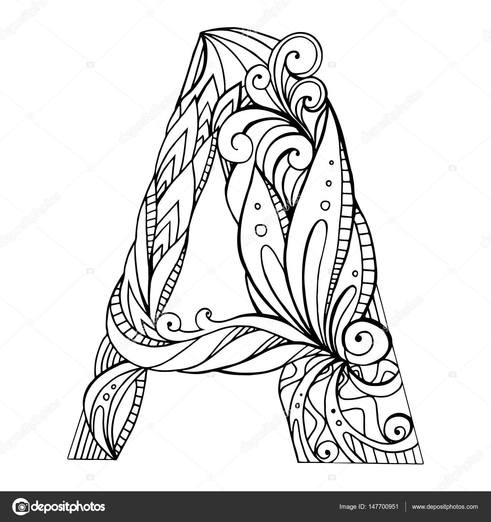 1600x1700 Freehand Drawing Capital Letter A Stock Vector Veleri