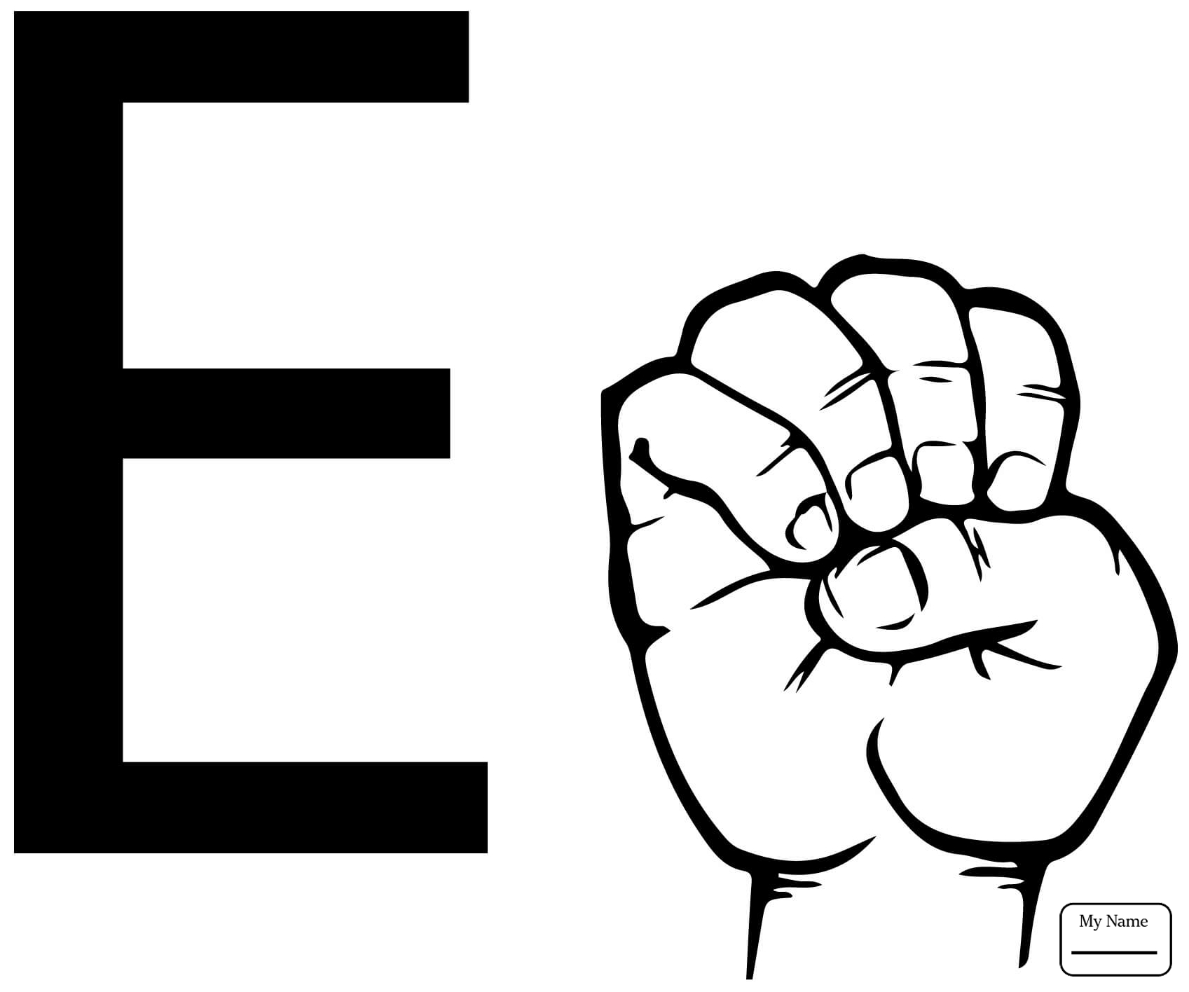 1697x1416 Asl Sign Language Letter E Letter E Letters And Alphabet Letter E