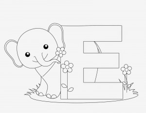 300x233 Letter E Coloring Pages