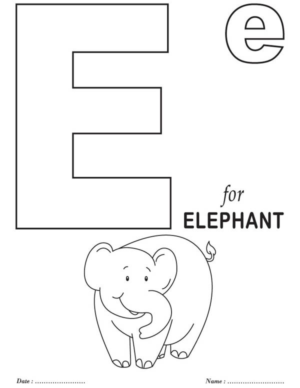 600x776 Big Letter E Coloring Page Best Place To Color