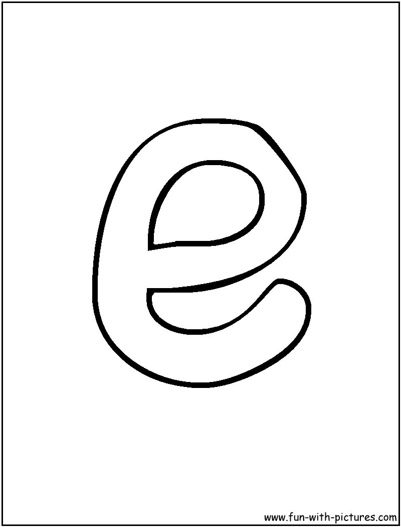 800x1050 Bubble Letter E Coloring Pages
