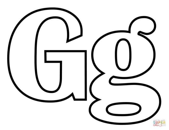 650x502 Letter G Coloring Pages 5 Nice Coloring Pages For Kids
