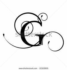 236x246 Monogram Initial Letter G Digital Collage Sheet Burlap Digital