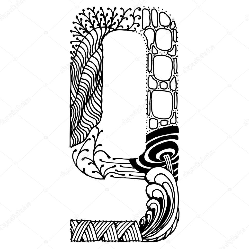 1024x1024 Zentangle Stylized Letters