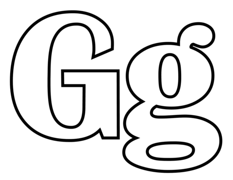 480x371 Classic Letter G Coloring Page Free Printable Coloring Pages