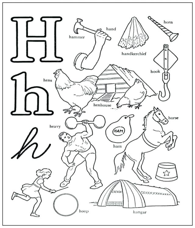 640x750 Letter H Coloring Pages Letter H Coloring Sheet Free Printable