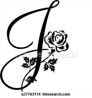 300x320 Fancy Cursive Capital J The Letter Art Cursive